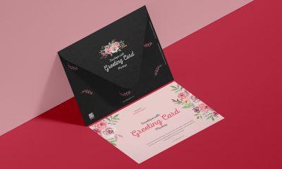 Free-Greeting-Card-Mockup-Design-With-Envelope