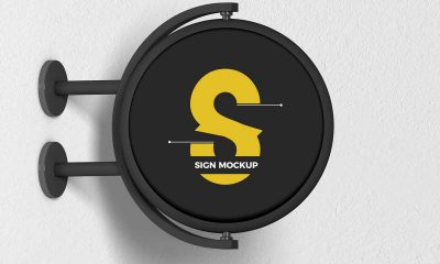 Free-Round-Sign-Mockup-Design