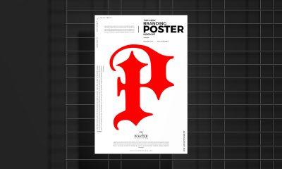 Free-Black-Iron-Environment-Poster-Mockup-Design