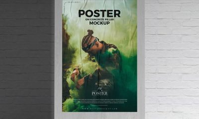 Free-Brand-Promotion-Glued-Poster-Mockup-Design