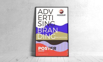 Free-Branding-Black-Framed-Poster-Mockup-Design