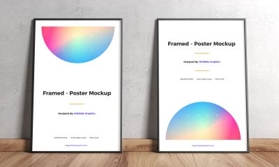 Free-Wooden-Floor-Framed-Poster-Mockup-Design