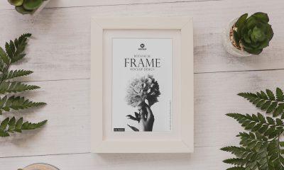 Free-Botanical-Frame-Mockup-Design