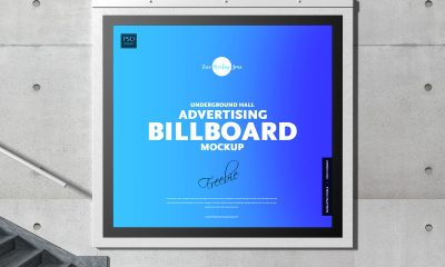 Free-Brand-Advertisement-Basement-Hall-Billboard-Mockup-Design