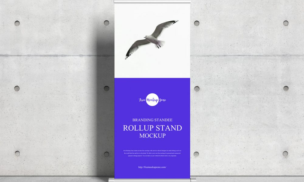 Free-Advertising-Roll-Up-Standee-Mockup-Design
