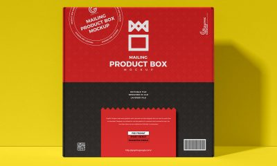 Free-Front-View-Mailing-Box-Packaging-Mockup-Design