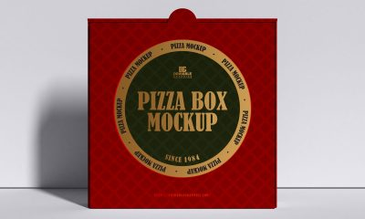 Free-Front-View-Standing-Pizza-Box-Mockup-Design