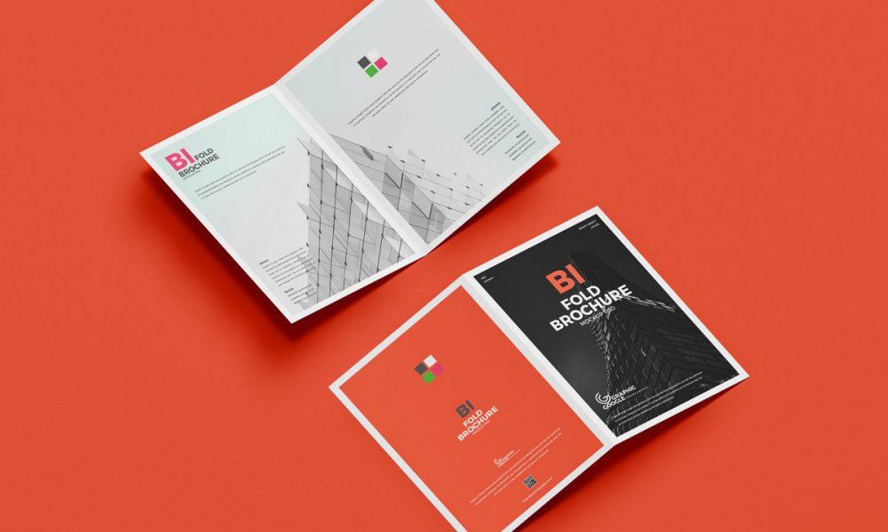 Free-PSD-A4-Bi-Fold-Brochure-Mockup-Design