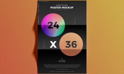 Free-Top-View-Folded-Paper-24x36-Inches-Poster-Mockup-Design