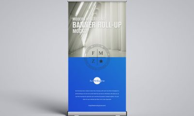 Free-Front-View-Roll-Up-Banner-Mockup-Design