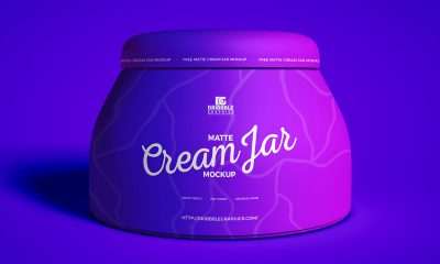 Free-Front-View-Cosmetics-Cream-Jar-Mockup-Design
