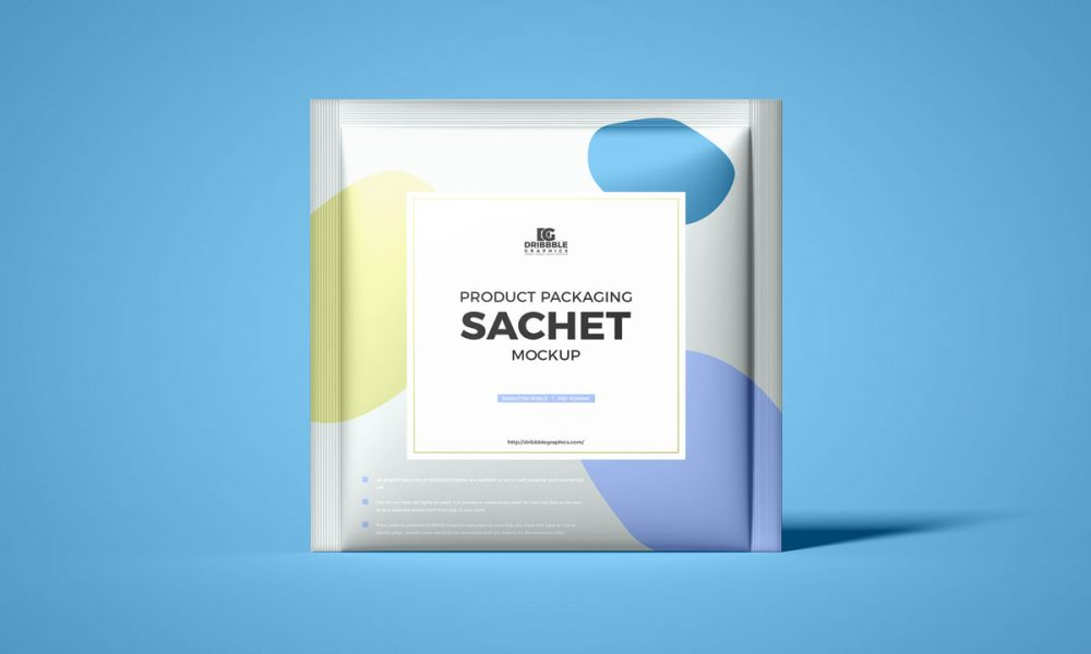 Free-Front-View-Square-Sachet-Packaging-Mockup-Design