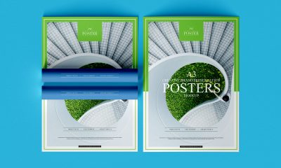 Free-Top-View-A3-Branding-Poster-Mockup-Design