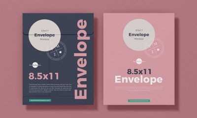 Free-Top-View-Letter-Size-Envelope-Stationery-Mockup-Design