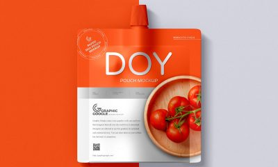 Free-Top-View-Doy-Pouch-Packaging-Mockup-Design