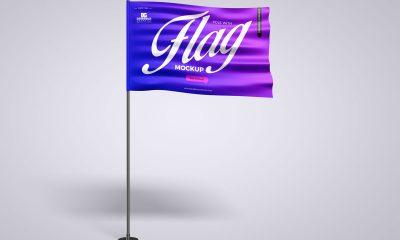 Free-Branding-Flag-Mockup-Design