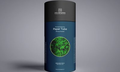 Free-Front-View-Brand-Paper-Tube-Packaging-Mockup-Design