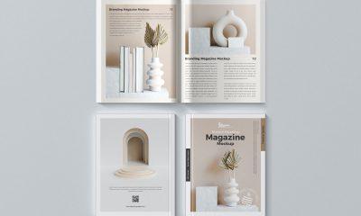 Free-Top-View-Complete-Magazine-Mockup-Design
