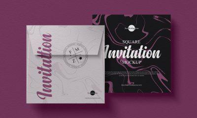 Free-Top-View-Modern-Invitation-Mockup-Design