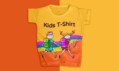 Free-Fabulous-Kids-T-Shirt-Mockup-Design