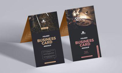Free-Folded-Standing-Business-Card-Mockup-Design