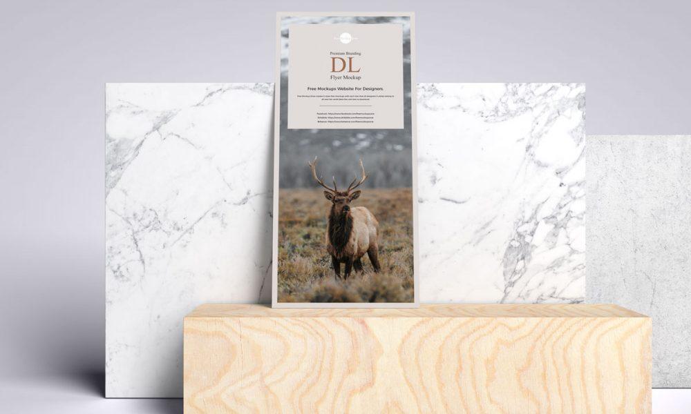 Free-Front-View-Branding-Dl-Flyer-Mockup-Design