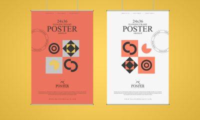 Free-Premium-Front-View-Hanging-Poster-Mockup-Design