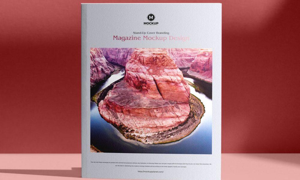 Free-Stand-Up-Cover-Branding-Magazine-Mockup-Design