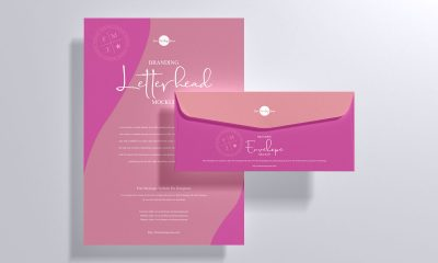 Free-Top-View-Letterhead-Stationery-Mockup-Design
