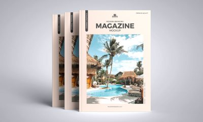 Free-Front-View-A4-Cover-Magazine-Mockup-Design