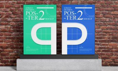 Free-Outdoor-Advertising-Premium-Poster-Mockup-Design
