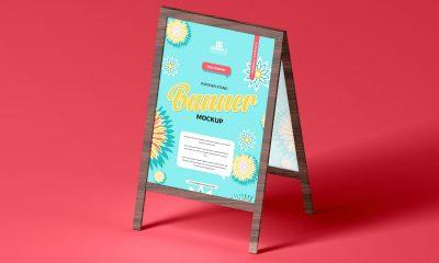 Free-Brand-Promotion-Wooden-Banner-Mockup-Design