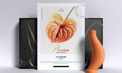 Free-Premium-Branding-Standing-A3-Poster-Mockup-Design