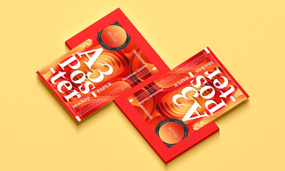 Free-A3-Premium-Poster-Mockup-Design
