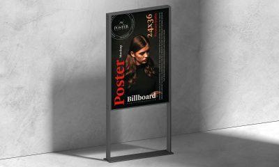 Free-Modern-Framed-Stand-Poster-Mockup-Design